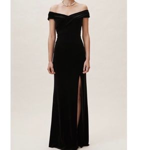 Anthro BHLDN Aidan Mattox Farley Velvet Dress